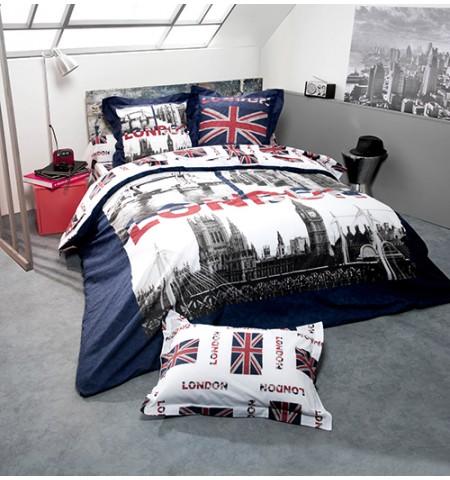 housse de couette london marine homemaison vente en ligne h. Black Bedroom Furniture Sets. Home Design Ideas