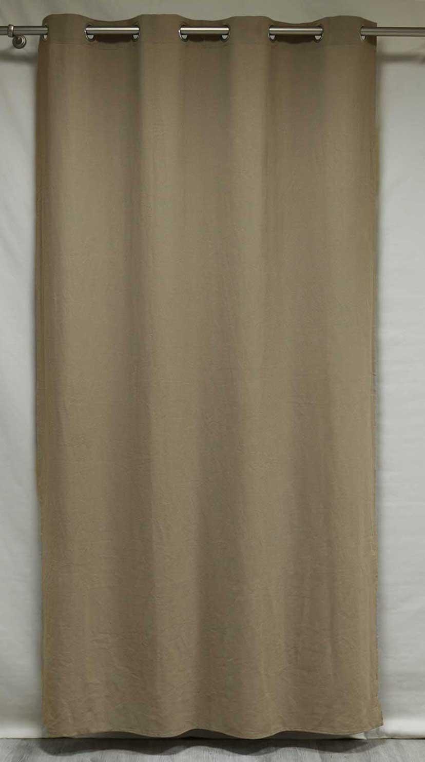 rideau uni en 100 lin epais paille ch ne blanc ivoire homemaison vente en ligne. Black Bedroom Furniture Sets. Home Design Ideas