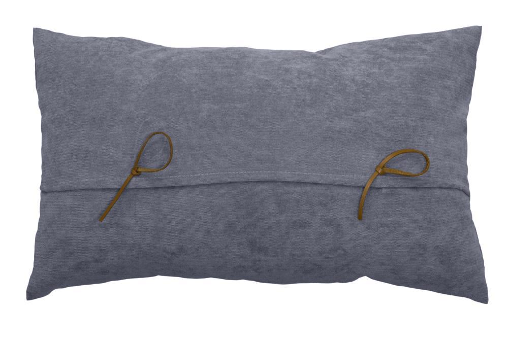 coussin rectangulaire avec n uds imitation cuir gris vison rouge ecru homemaison. Black Bedroom Furniture Sets. Home Design Ideas