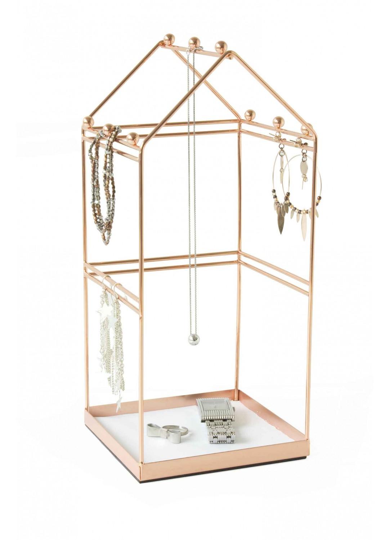 support bijoux petite maison cuivre homebain vente en ligne accessoires de salle de bain. Black Bedroom Furniture Sets. Home Design Ideas