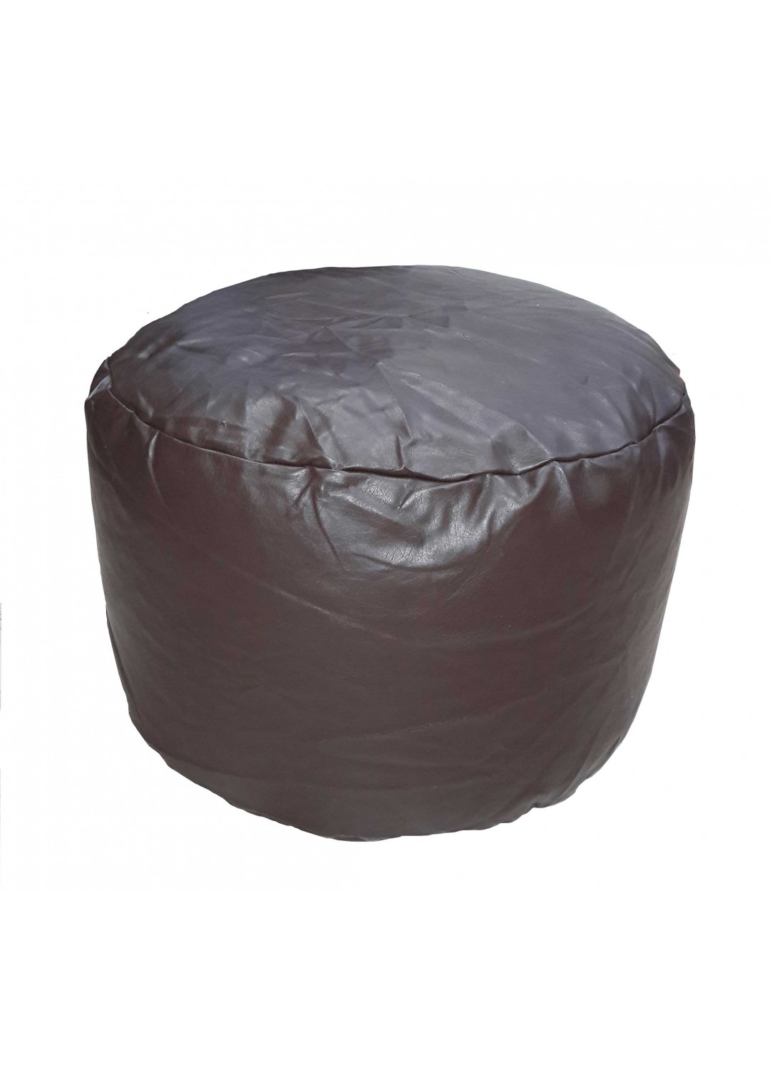 pouf rond en imitation cuir chocolat homemaison vente en ligne poufs cubes microbilles. Black Bedroom Furniture Sets. Home Design Ideas