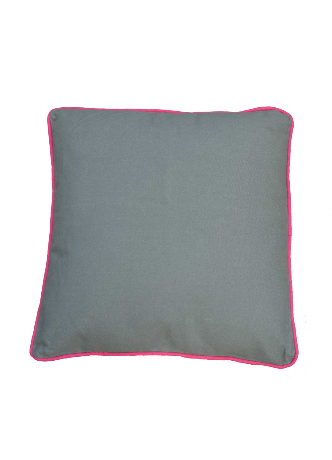 coussin uni avec pourtour color bleu fuschia homemaison vente en ligne coussins standards. Black Bedroom Furniture Sets. Home Design Ideas
