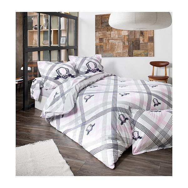 housse de couette imprim esprit rugby blanc. Black Bedroom Furniture Sets. Home Design Ideas