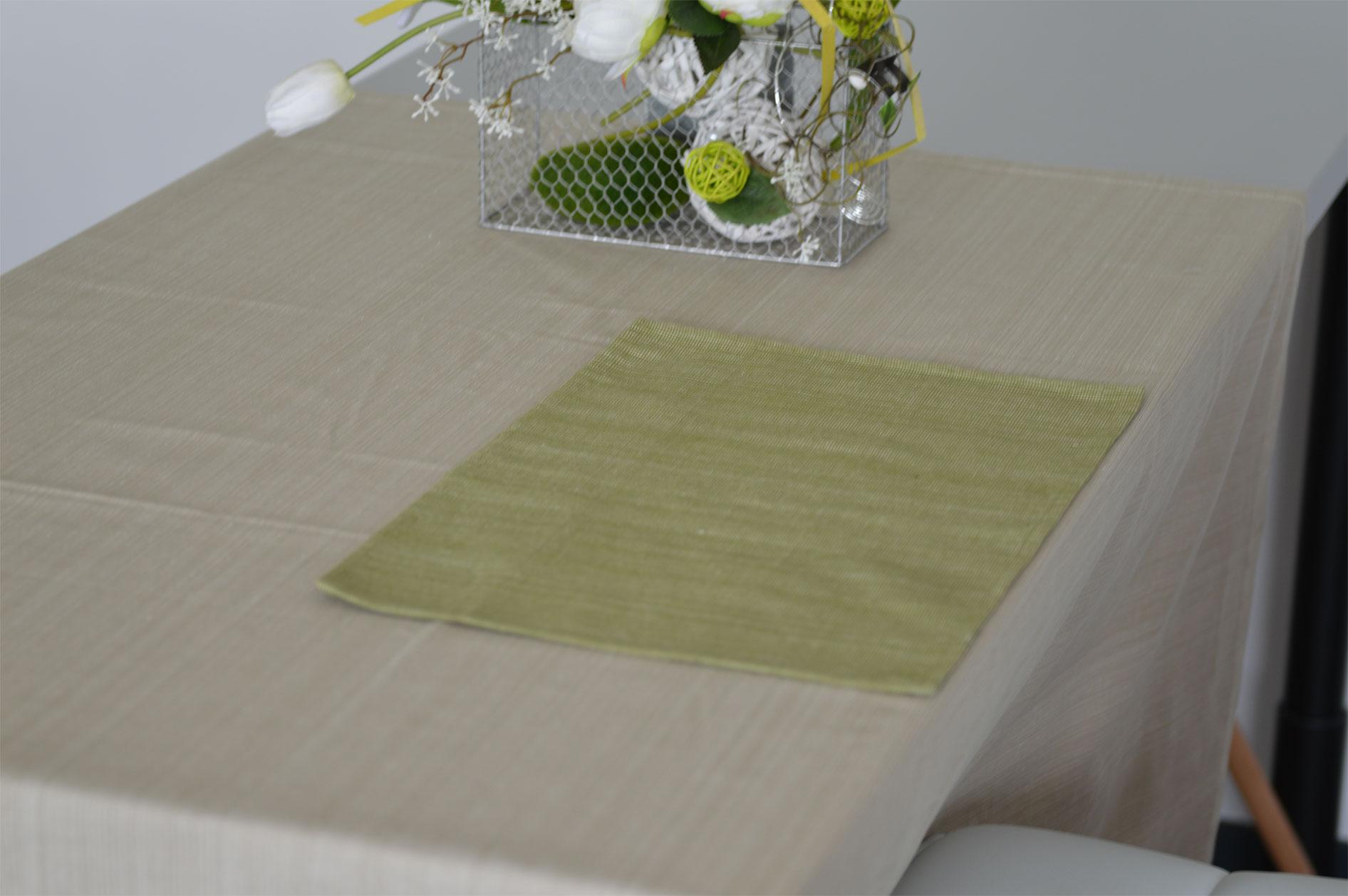 Set de Table en Coton Biologique (Vert)