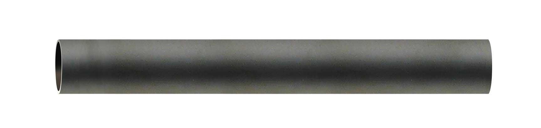 Tube nu en Fer Forgé Noir 2 m (Noir)