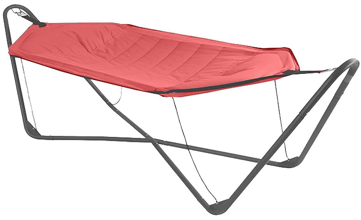 hamac toile matelass e avec support acier rouge taupe homemaison vente en ligne salons. Black Bedroom Furniture Sets. Home Design Ideas