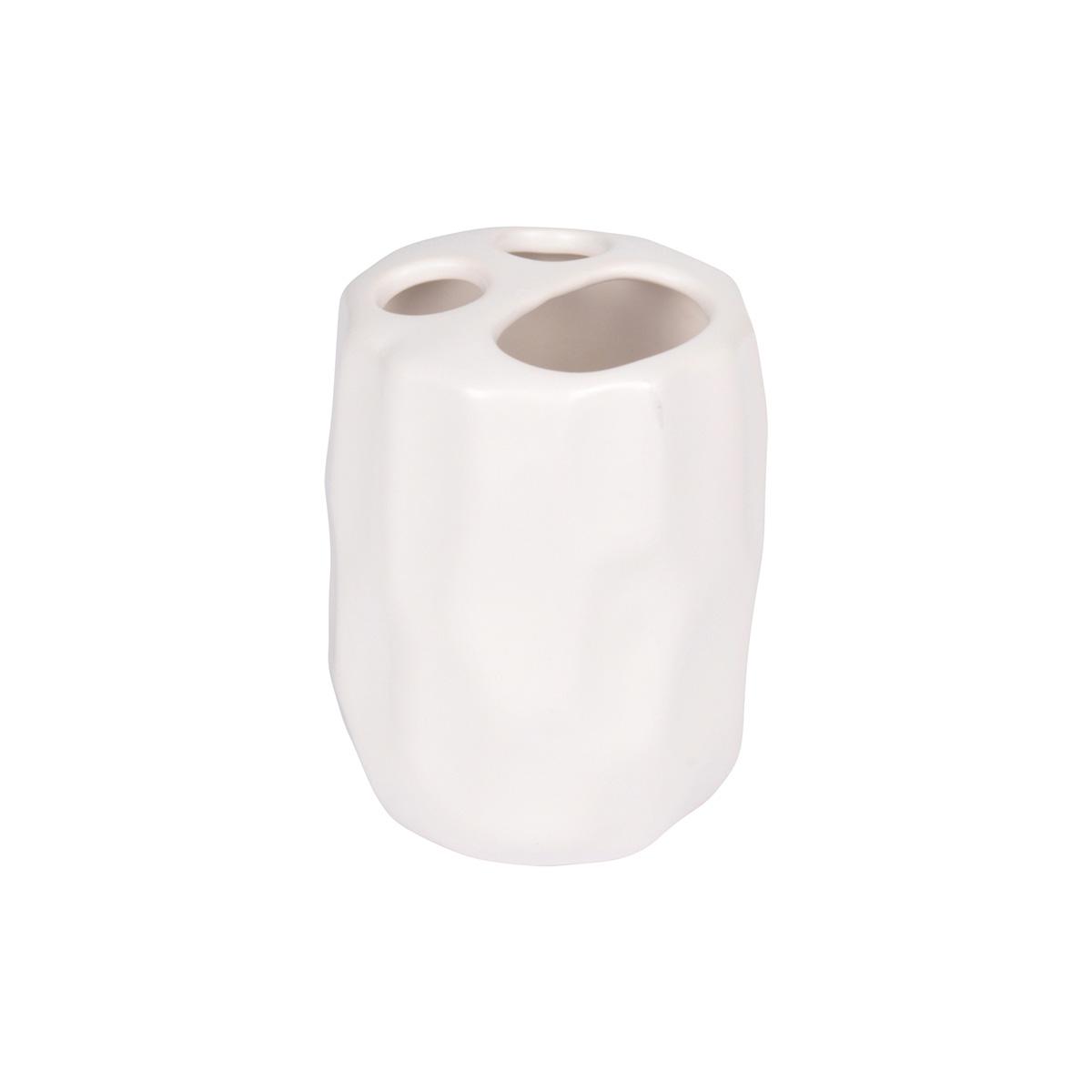 Porte brosse dent effet martel blanc rose poudre - Effet chaule blanc poudre ...