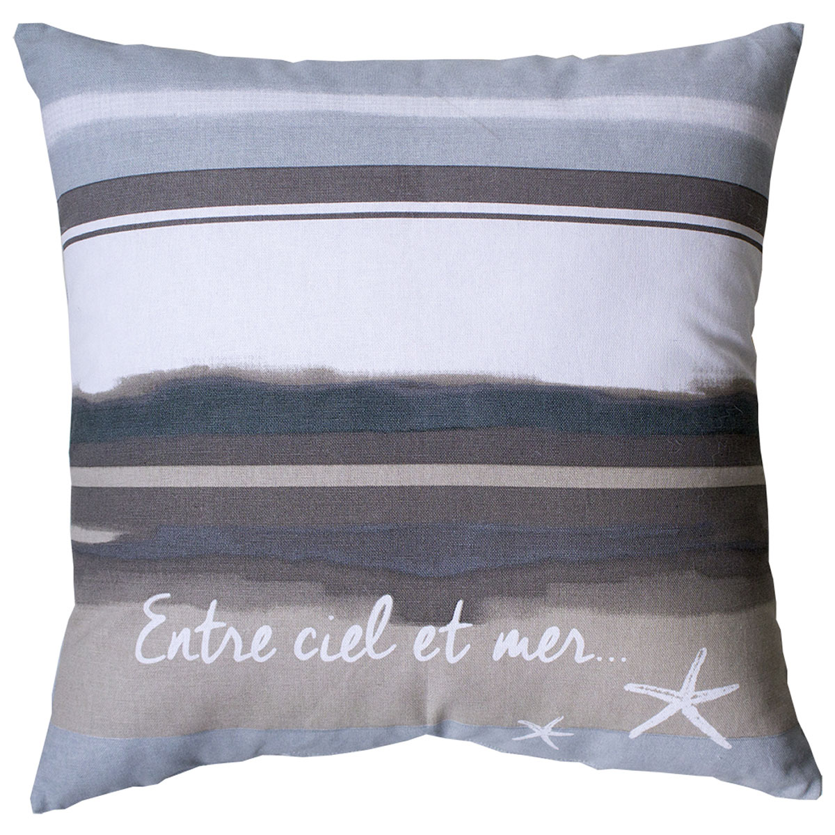 coussin non d houssable bord de mer gris homemaison vente en ligne coussins standards. Black Bedroom Furniture Sets. Home Design Ideas