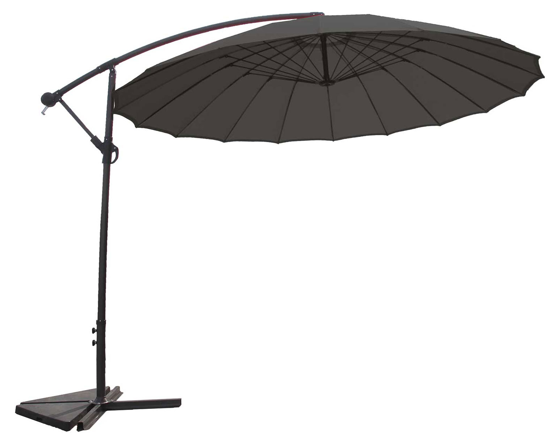 Parasol Déporté et Inclinable Rond Ø 3m (Anthracite)