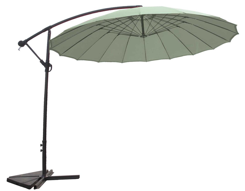 Parasol Déporté et Inclinable Rond Ø 3m (Menthe)