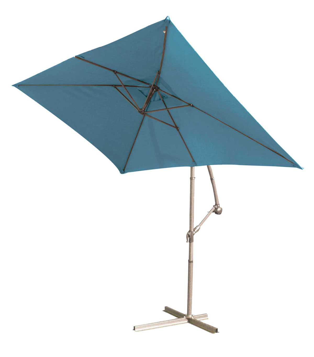 parasol structure m tal pied d port 3 x 2 m bleu. Black Bedroom Furniture Sets. Home Design Ideas