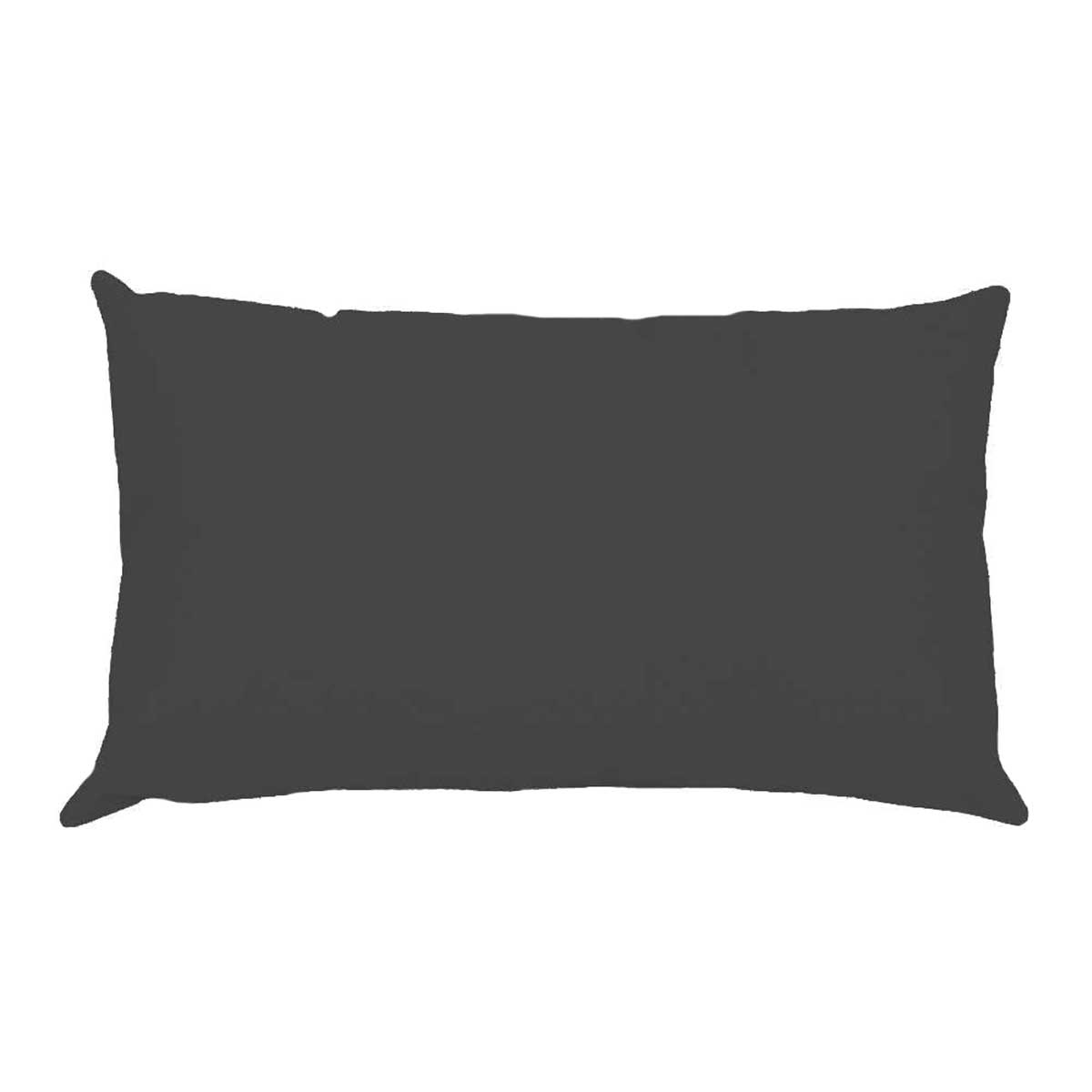 Taie d'oreiller percale 50 x 70 cm unie (Anthracite)