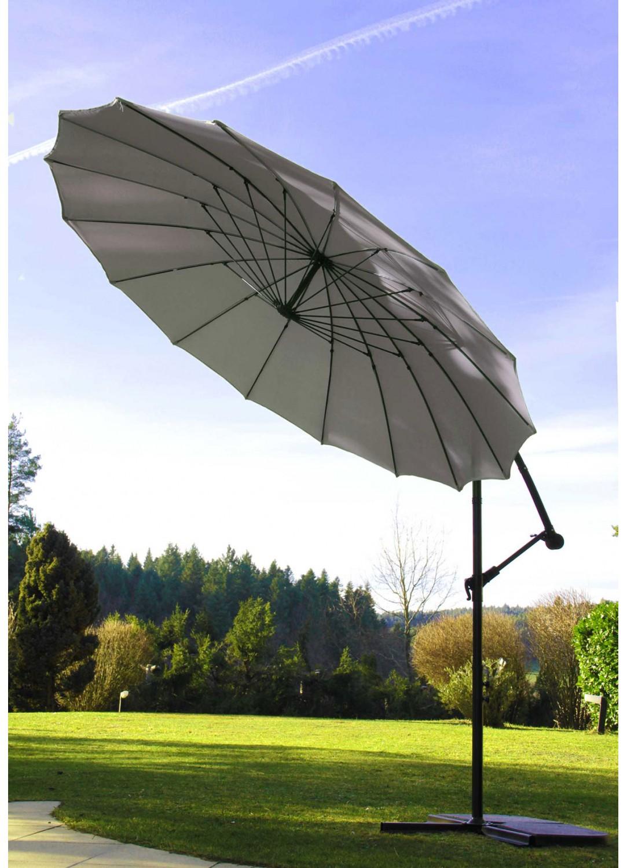 Parasol Déporté et Inclinable Rond Ø 3m (Perle)