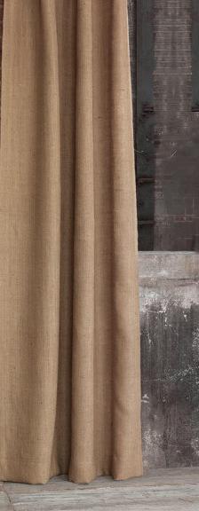 rideau en lin aspect toile de jute lin homemaison. Black Bedroom Furniture Sets. Home Design Ideas