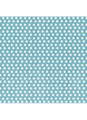 Toile Cirée en PVC à Pois (Bleu)