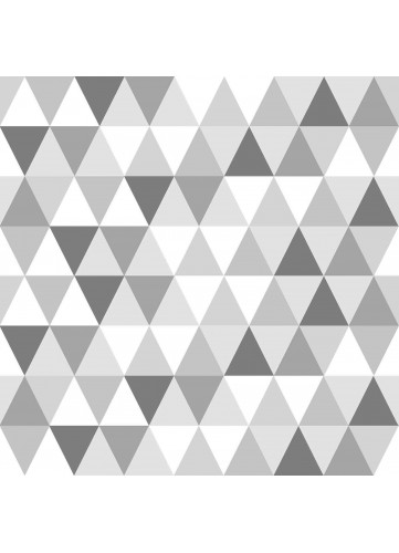 Toile Cirée en PVC Imprimée Triangles (Gris)