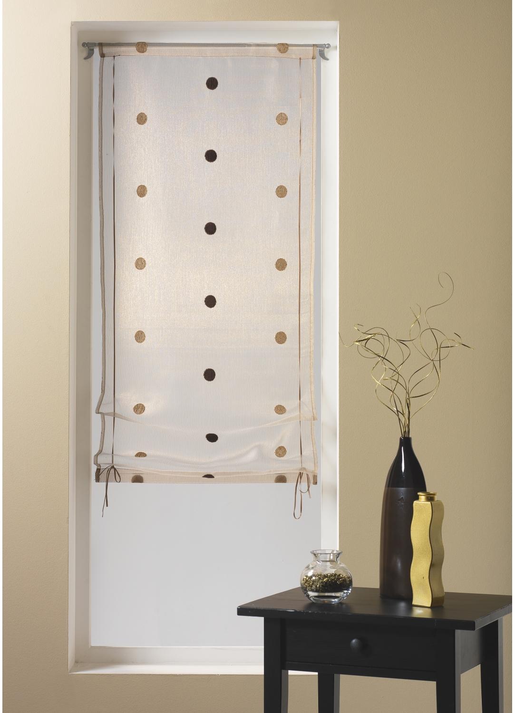 raffrollo mit punkten homemaison vente en ligne fenstergardinen. Black Bedroom Furniture Sets. Home Design Ideas