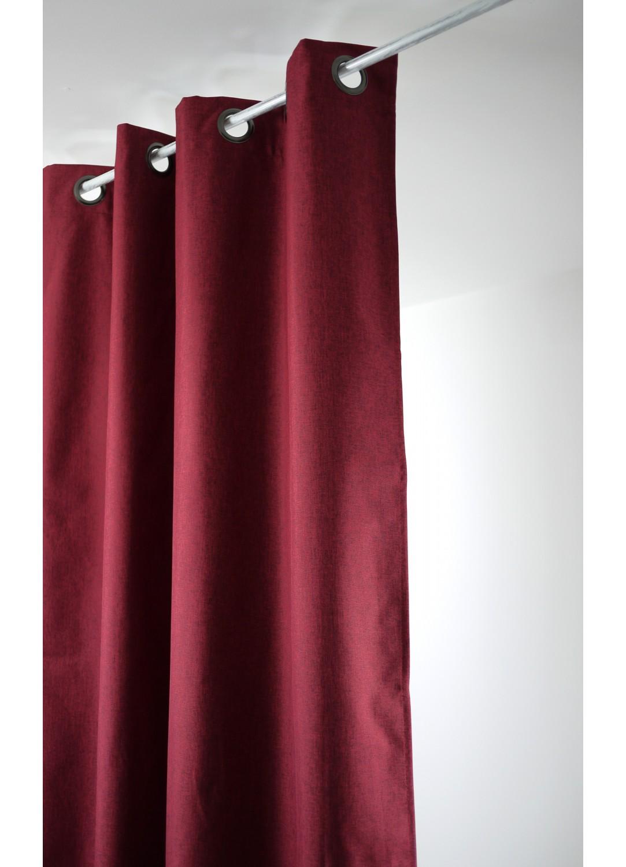 rideau uni occultant avec oeillets rouge gris fonc gris clair ficelle beige. Black Bedroom Furniture Sets. Home Design Ideas