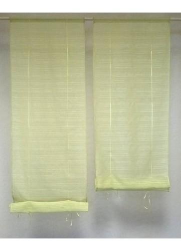 Petits vitrages droits remontables - Vert - 60 x 160 cm