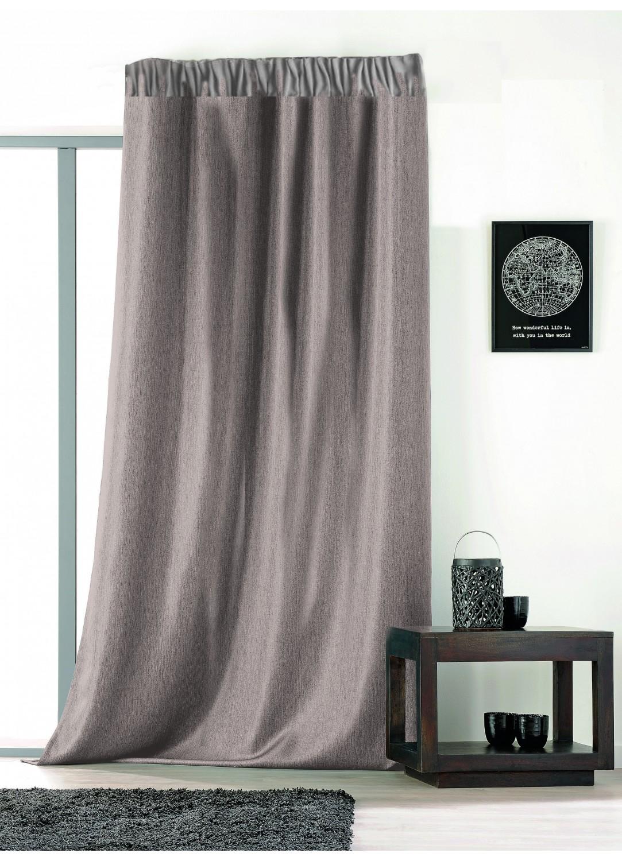 rideau uni avec galon fronceur ficelle beige rouge bleu gris vert homemaison. Black Bedroom Furniture Sets. Home Design Ideas