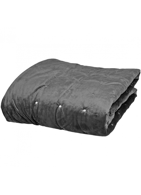 couvre lit et chemin de lit dots mink anthracite blanc cass gris perle ficelle. Black Bedroom Furniture Sets. Home Design Ideas