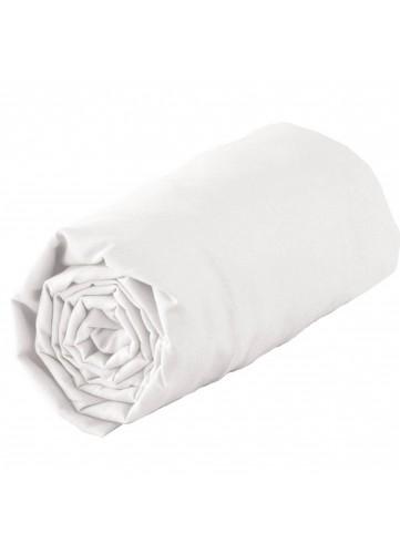 Drap housse en satin de coton - Blanc - 160 x 200 Bt 23 cm
