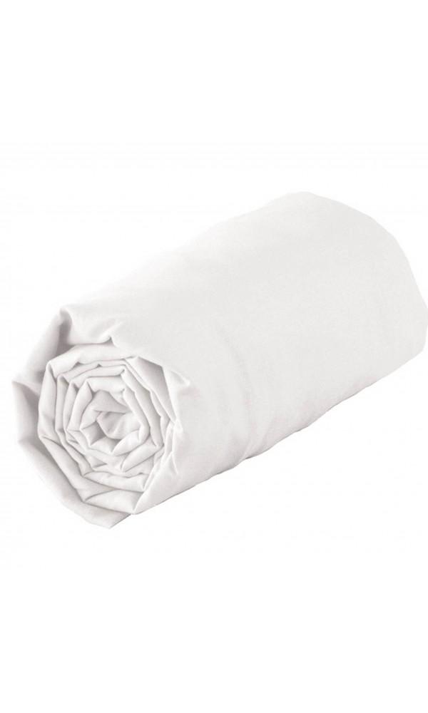 Drap housse tradi bordé biais blanc - Blanc - 160 x 200 cm