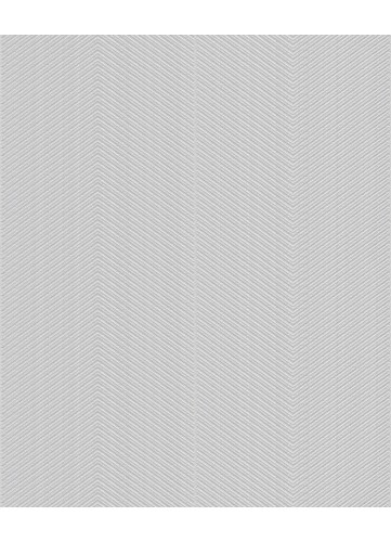 Papier peint à Chevrons pailletés - Gris - 10 m x 0,53 m