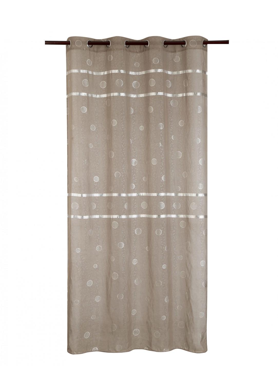 voilage bandes brillantes taupe noir beige gris homemaison vente en ligne voilages. Black Bedroom Furniture Sets. Home Design Ideas