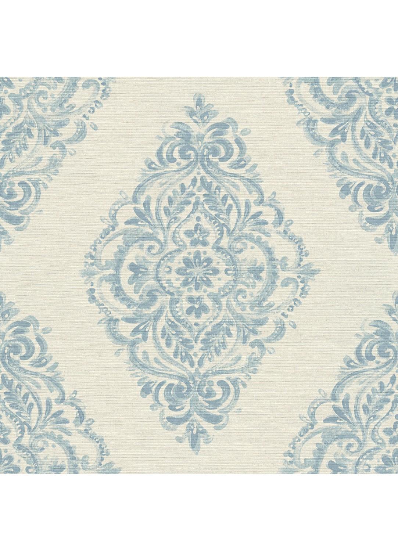 papier peint l esprit baroque forme m daillon bleu blanc ivoire homemaison. Black Bedroom Furniture Sets. Home Design Ideas