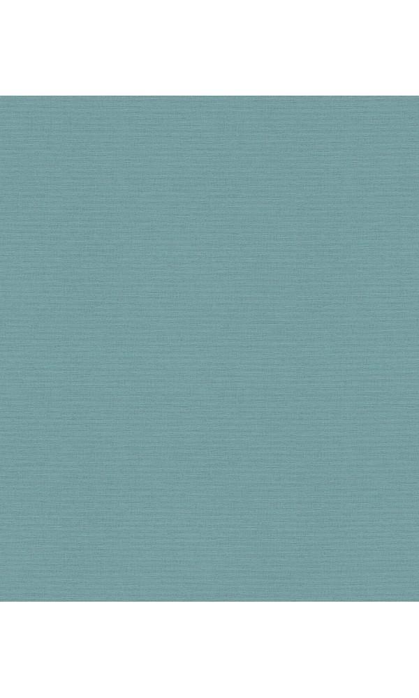 Papier peint uni à l'aspect Tissé - Bleu - 10 m x 0,53 m