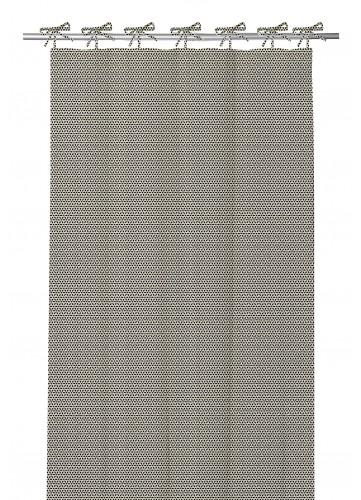 Rideau en 100 % Coton à Nouettes et Imprimés Design (Lin)