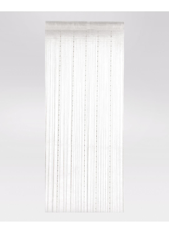 rideau fils fantaisie blanc gris clair noir. Black Bedroom Furniture Sets. Home Design Ideas