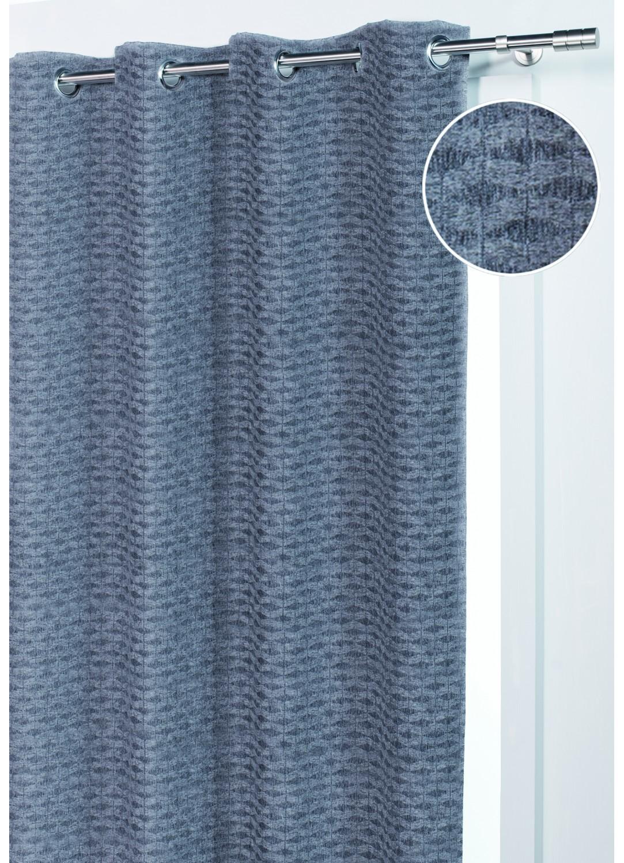 rideau en forme de vaguelette aspect maille gris homemaison vente en ligne rideaux. Black Bedroom Furniture Sets. Home Design Ideas