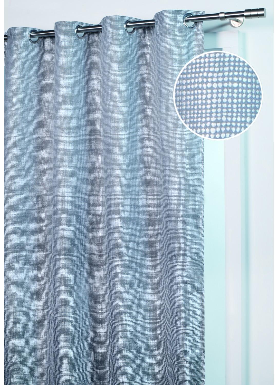 rideau d ameublement pois tr s serr s gris homemaison vente en ligne rideaux. Black Bedroom Furniture Sets. Home Design Ideas