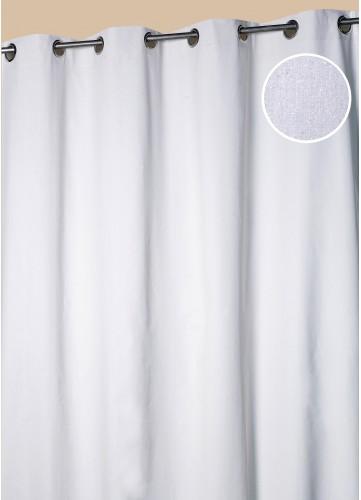 Rideau d ameublement uni paillet ivoire beige rouge gris homema - Rideau gris paillete ...