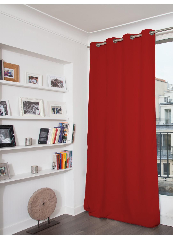 Rideau phonique occultant et thermique moondream rouge p lican m tal galet vieux for Rideau thermique et occultant