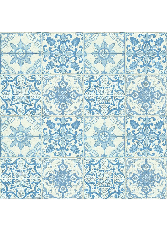 papier peint motifs azuleros bleu blanc ecru homemaison vente en ligne papiers peints. Black Bedroom Furniture Sets. Home Design Ideas