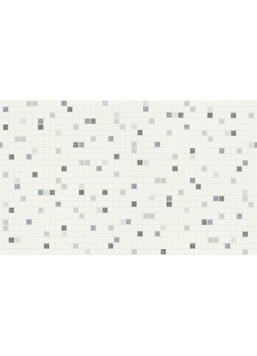 Papier peint motifs Petits Carrés - Bleu - 10 m x 0,53 m