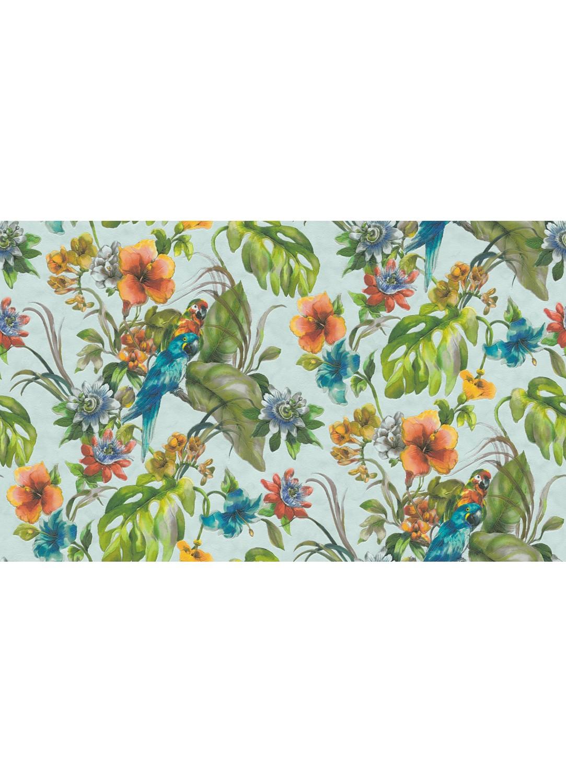 """Papier Peint Avec Perroquet papier peint """"perroquet"""" sur fond coloré (bleu)"""