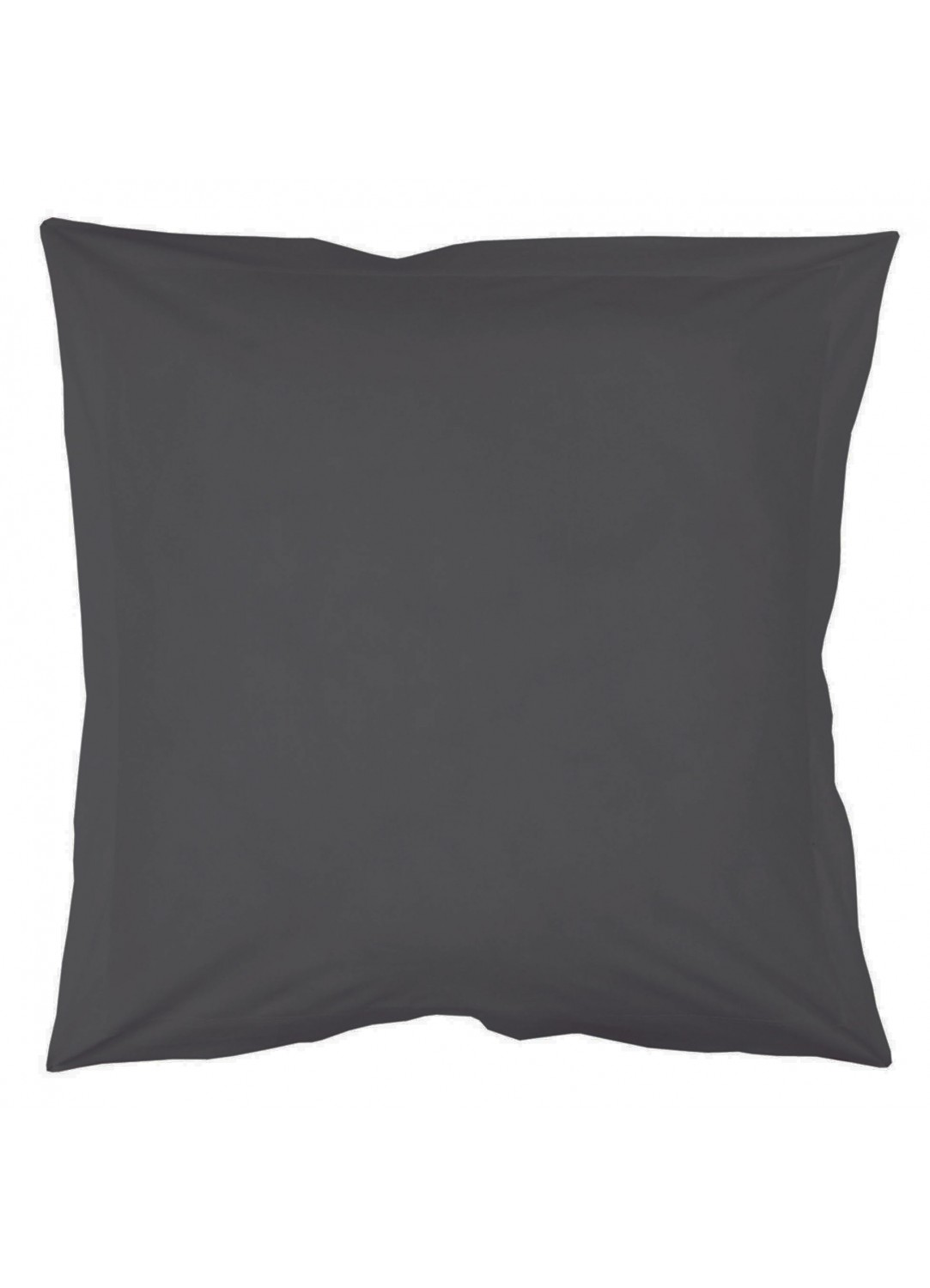 Taie d'oreiller percale 65 x 65 cm unie (Anthracite)