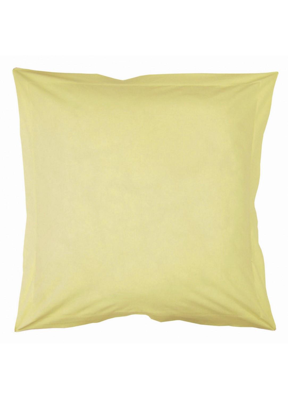Taie d'oreiller ton sur ton 65 x 65 cm pastel (Paille)