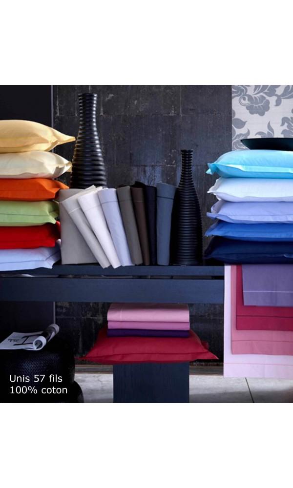 Drap housse tradi brodés biais 80 x 210 cm pastel