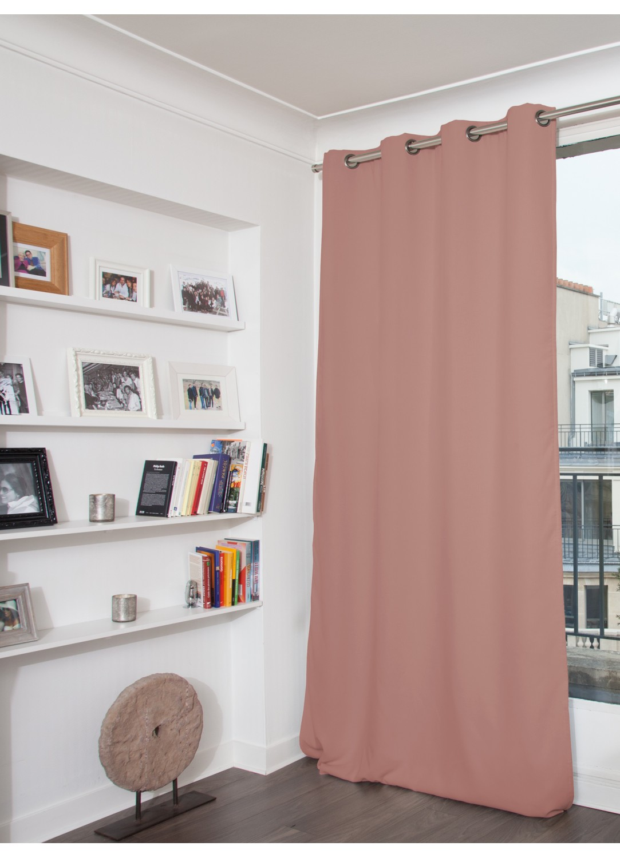 rideau phonique occultant et thermique moondream vieux rose p lican m tal galet. Black Bedroom Furniture Sets. Home Design Ideas