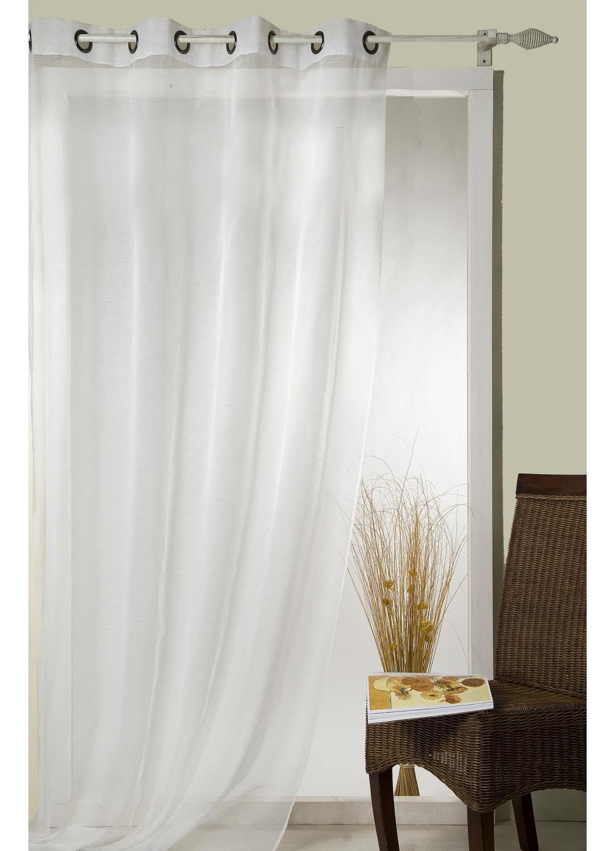 voilage uni fils fantaisie orange blanc ivoire beige rouge bleu taupe. Black Bedroom Furniture Sets. Home Design Ideas