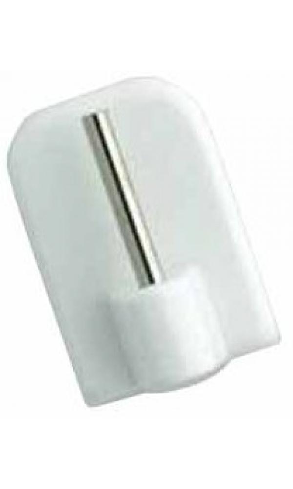 4 Supports Adhésifs Plastique - Blanc - 23 mm