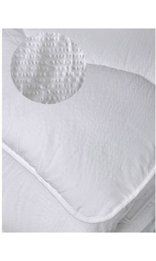 Couette Été Aspect Gaufré - Blanc - 220 x 240 cm