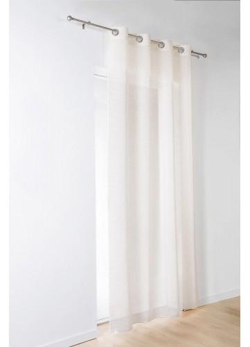 Voilage à Fines Rayures - Beige - 140 x 260 cm