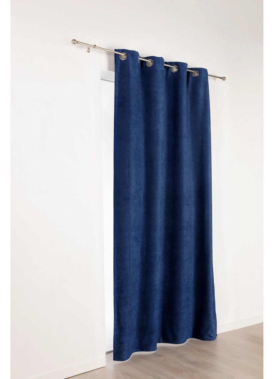 rideau isolant et occultant uni bleu oc an blanc nacr gris souris noir beige. Black Bedroom Furniture Sets. Home Design Ideas