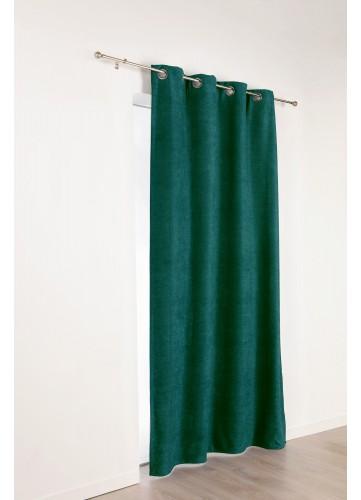 Rideau isolant et occultant uni - Vert - 140 x 260 cm